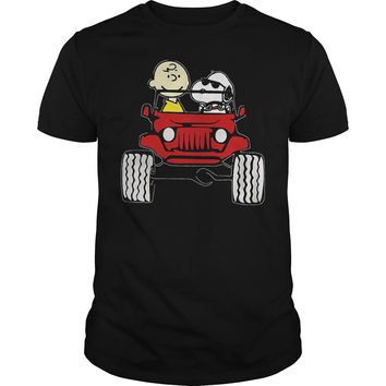 They Are Snoopy And Charlie Brown Premium Fitted Guys Tee