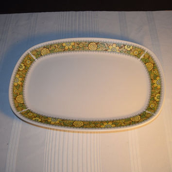 "Noritake Progression Festival 13"" Serving Platter Vintage Oval Serving Tray Hard to Find Rare 1970s Noritake Replacement Discontinued China"