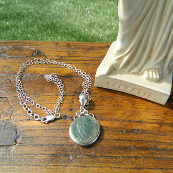 Ancient Coin Pendant, Ancient Roman Pendant, Ancient Roman Jewelry, Ancient Coin Necklace