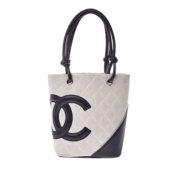 Authentic Chanel Ligne Cambon Small Girls,Women Leather Tote Bag 809000608822000
