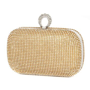 Evening Clutch Bags Diamond-Studded Evening Bag With Chain Shoulder Bag Women's Handbags Silver/Gold/Black Wallets Evening Bag