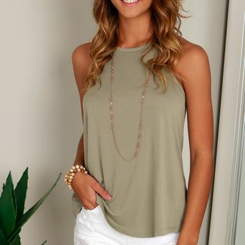 Loose Ribbed Tank Greige