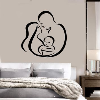 Vinyl Wall Decal Abstract Woman Man Child Family Baby Stickers (2797ig)