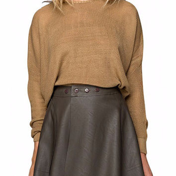 Kathleen Batwing Pullover Cropped Sweater