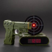 Lock N' load target alarm clock/Gun alarm colck:Amazon:Toys & Games