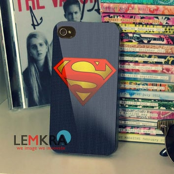 justice league superman logo Design for iPhone 4/4s/5/5s/5c, Samsung Galalxy S3/S4 Case