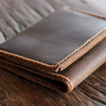 Men's Leather Trifold Wallet - Holds Lots & Lots of Money -029