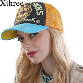Xthree summer baseball cap snapback hats casquette embroidery letter cap bone girl hats for women men cap