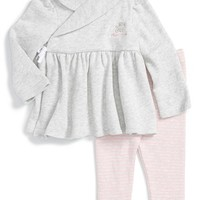 Ralph Lauren Long Sleeve Wrap Top & Leggings (Baby Girls) | Nordstrom