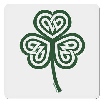 "Celtic Knot Irish Shamrock 4x4"" Square Sticker"
