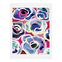 CayenaBlanca Flower Party Art Print