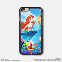 The little mermaid Ariel Free Shipping iPhone 6 6 Plus case iPhone 5s case iPhone 5C case 388