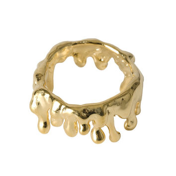 Drippings Gold Ring