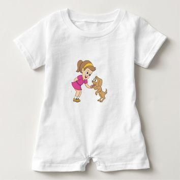 Girl & Dog Baby Romper