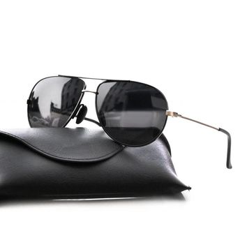2018 Vintage Retro Aviator Sunglasses Men Polarized Driving Glasses Women Brand Designer