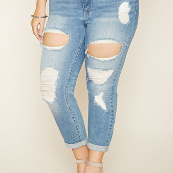 Plus Size Distressed Jeans | Forever 21 PLUS - 2000203922