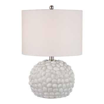 D2497 Southend Table Lamp In White Shell - Free Shipping!