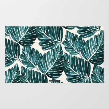 Jungle Leaves Rug by CRYSTAL WALEN