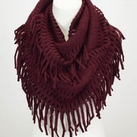 Lenore Infinity Scarf - Maroon | Infinity Scarf | Kiki LaRue Boutique