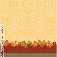 Thanksgiving Blessing Plastic Tablecover - Multi-colored