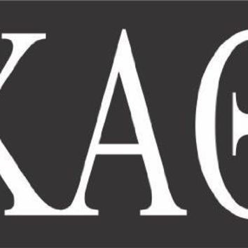 Kappa Alpha Theta College Sorority  Logo Vinyl Sticker Decal Car Truck Windon Wall Laptop notebook