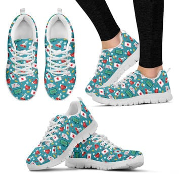Nurse Pattern Sneakers