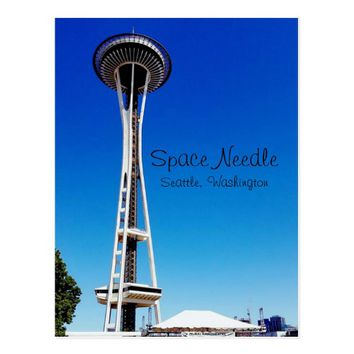 Seattle Space Needle in Washington Postcard