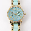 Obsession Gold Rhinestone Watch - Bubble Gum or Mint