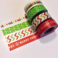 Merry Christmas Holiday Season Label Stickers Washi Tape For Erin Condren Life Planner Filofax Project Life Scrapbook Smashbook Plum Paper
