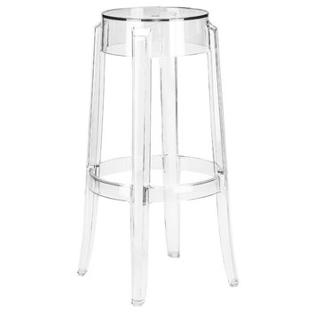 Burton Bar Stool in Clear