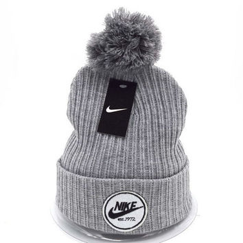 Perfect Nike Women Men Embroidery Beanies Winter Warm Knit Hat Cap 5e095f037a9