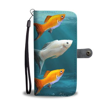 Molly Fish (Poecilia Sphenops) Print Wallet Case-Free Shipping