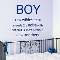 Boy Wall Decal Quote Vinyl Stickers a Noise With Dirt on It Art Mural Home Bedroom Decor Interior Design Baby Boy Nursery Decor KY108