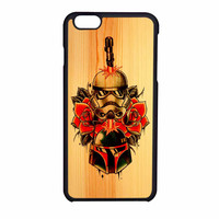 Star Wars Roses Tatto In Wood iPhone 6 Case