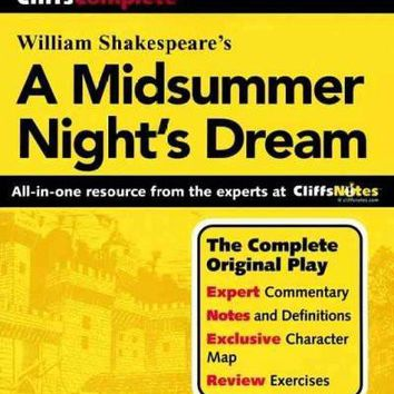 Cliffscomplete Shakespeare's a Midsummer Nights Dream: Complete Text, Commentary, Glossary (Cliffs Complete Study Editions): Cliffscomplete Shakespeare's a Midsummer Nights Dream