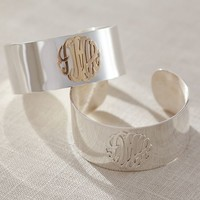 Initial Reaction Monogram Cuff
