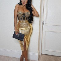 Glamira Fashion Gold Two Piece Hottest Set