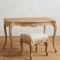 Menara Carved Console Set by Anthropologie in Neutral Size: Set Of 2 House & Home