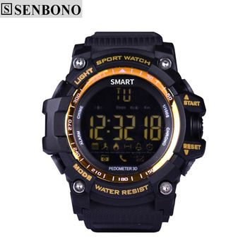 SENBONO EX16 Bluetooth Sport Smart Watch Support Pedometer Stopwatch Alarm Clock Waterproof for IOS Android Phone