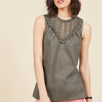 Fashion Your Fairytale Sleeveless Top in Slate