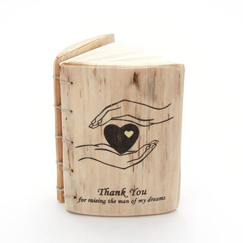Wedding gift for Mother of the Groom, mother of groom gift, mother in law gift, mother of the groom gift, wood journal, Thank you gift