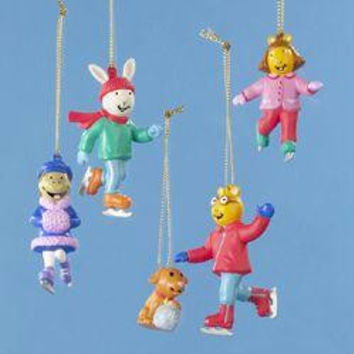 5 Christmas Ornaments - Arthur And Friends