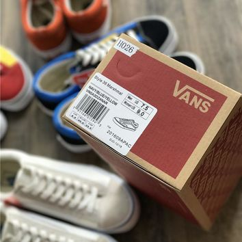 Vans Vault Og Style 36 Anni Lx Marshmallow 17ss Running Shoes - Beauty Ticks