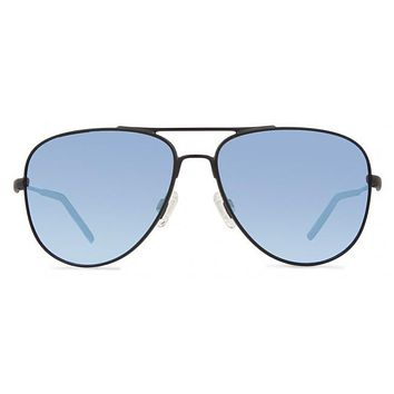 Revo - Windspeed Matte Black Sunglasses, Blue Water Crystal Lenses
