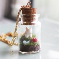 Handmade Gifts | Independent Design | Vintage Goods Woodland Terrarium Necklace - Girls