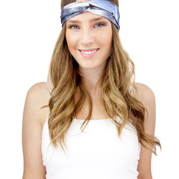 GALAXY PRINT HEADBAND, light purple turban, purple jersey knit headband, gray or purple