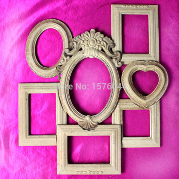 7PCS/LOT DIY painting material photo frame Wood powder pressing 7pcs/lot free shipping hot selling W0008