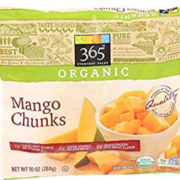 365 Everyday Value, Organic Mango Chunks, 10 oz, (Frozen)