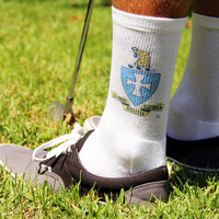 Fraternity Crest Socks - Men's Crew Socks - Sigma Chi Shown - others available
