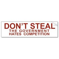 Don't Steal Bumper Sticker from Zazzle.com